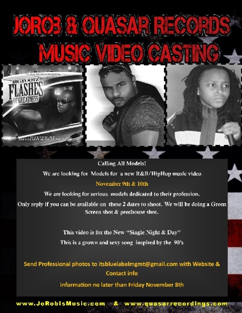 JoRob & Quasar Records Model casting
