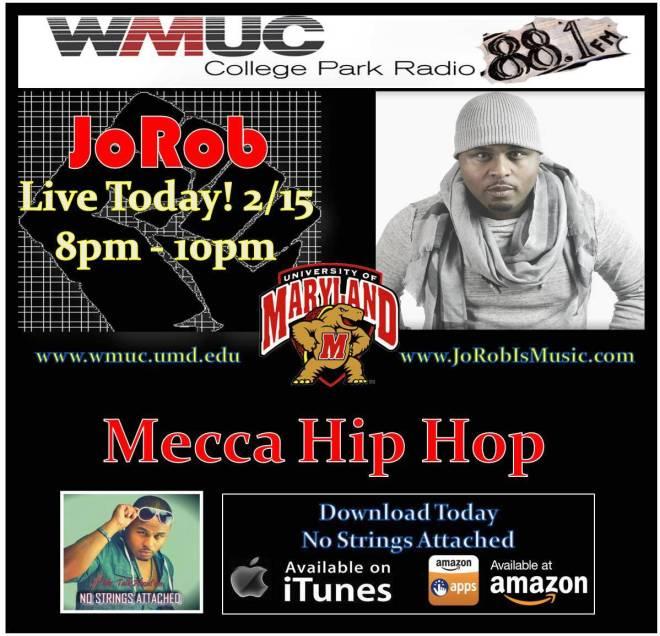 JoRob Live WMUC Mecca HipHop