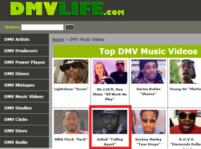 JoRob has TopDMV Music Video DMVLife.com